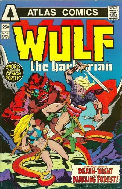 Cover for Wulf the Barbarian (Seaboard, 1975 series) #4