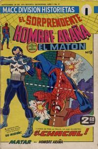 Cover Thumbnail for El Sorprendente Hombre Araña (Editorial OEPISA, 1974 series) #9