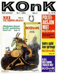 Cover Thumbnail for Konk (Bladkompaniet / Schibsted, 1977 series) #1/1984