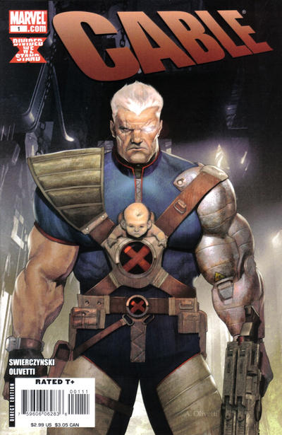 Cover for Cable (Marvel, 2008 series) #1 [Olivetti Cover]