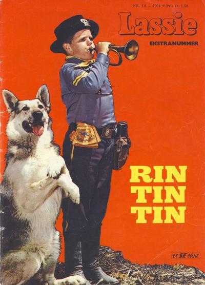Cover for Lassie Ekstra Rin-Tin-Tin [Rin Tin Tin] (Serieforlaget / Se-Bladene / Stabenfeldt, 1959 series) #1a/1961