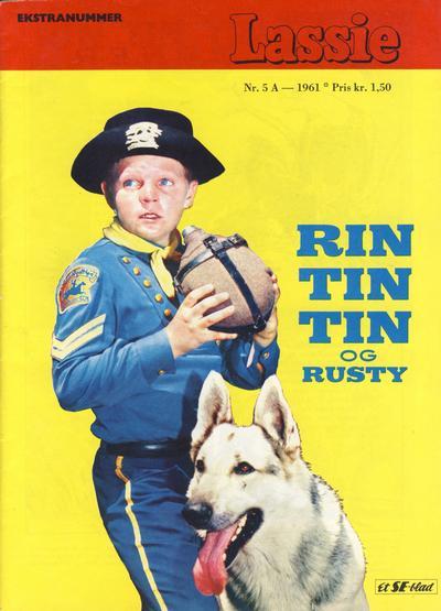 Cover for Lassie Ekstra Rin-Tin-Tin [Rin Tin Tin] (Serieforlaget / Se-Bladene / Stabenfeldt, 1959 series) #5a/1961