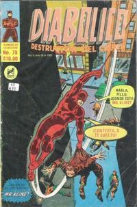 Cover Thumbnail for Diabolico (Novedades, 1981 series) #78