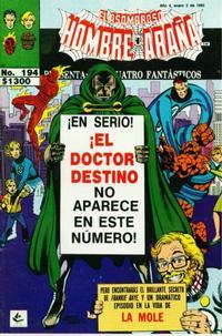 Cover Thumbnail for El Asombroso Hombre Araña Presenta (Novedades, 1988 series) #194