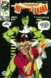 Cover Thumbnail for El Asombroso Hombre Araña Presenta (Novedades, 1988 series) #270