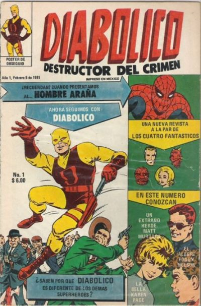 Cover for Diabolico (Novedades, 1981 series) #1