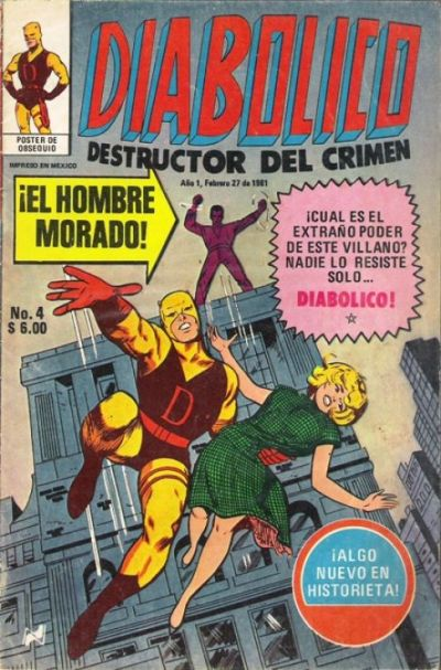 Cover for Diabolico (Novedades, 1981 series) #4