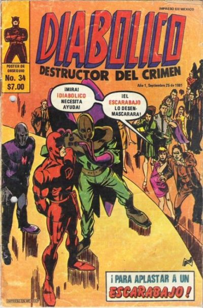 Cover for Diabolico (Novedades, 1981 series) #34