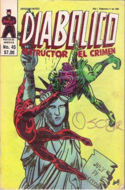 Cover for Diabolico (Novedades, 1981 series) #45