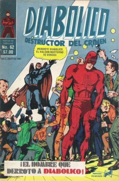 Cover for Diabolico (Novedades, 1981 series) #62