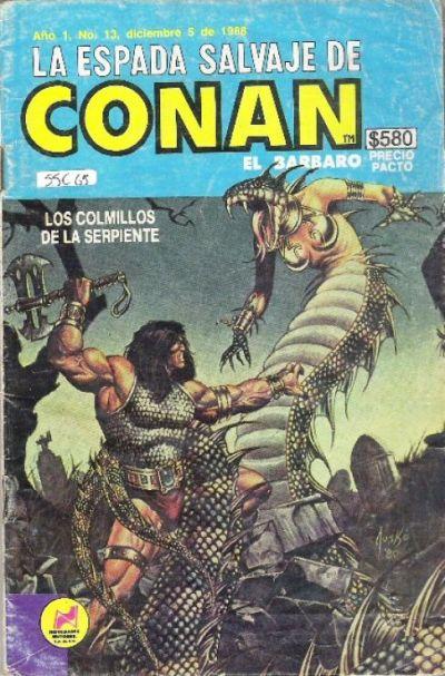 Cover for La Espada Salvaje de Conan el Bárbaro (Novedades, 1988 series) #13