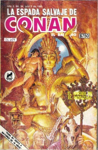 Cover for La Espada Salvaje de Conan el Bárbaro (Novedades, 1988 series) #54