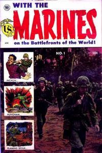Cover Thumbnail for With the Marines on the Battlefronts of the World (Toby, 1953 series) #1