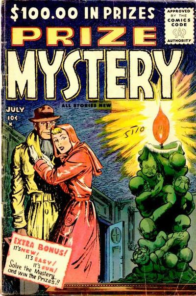 Cover for Prize Mystery (Stanley Morse, 1955 series) #2