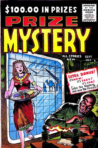 Cover for Prize Mystery (Stanley Morse, 1955 series) #3