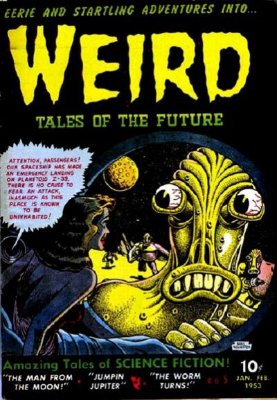 Cover for Weird Tales of the Future (Stanley Morse, 1952 series) #5