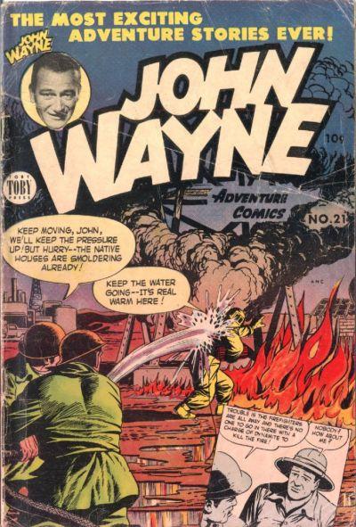 Cover for John Wayne Adventure Comics (Toby, 1949 series) #21