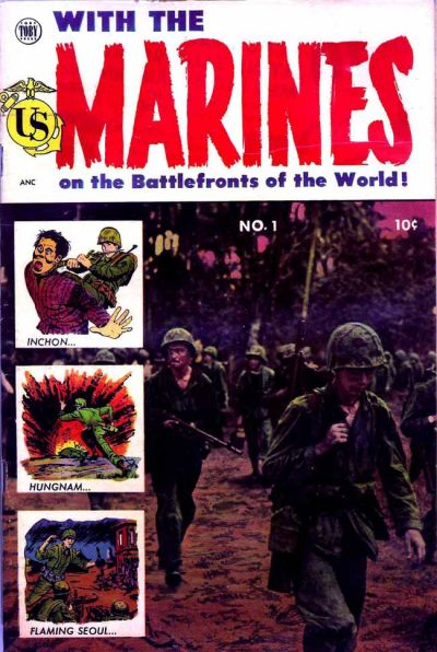 Cover for With the Marines on the Battlefronts of the World (Toby, 1953 series) #1