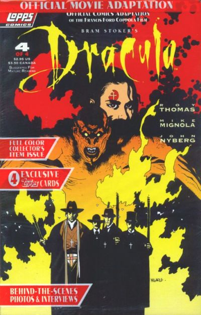 Cover for Bram Stoker's Dracula (Topps, 1992 series) #4