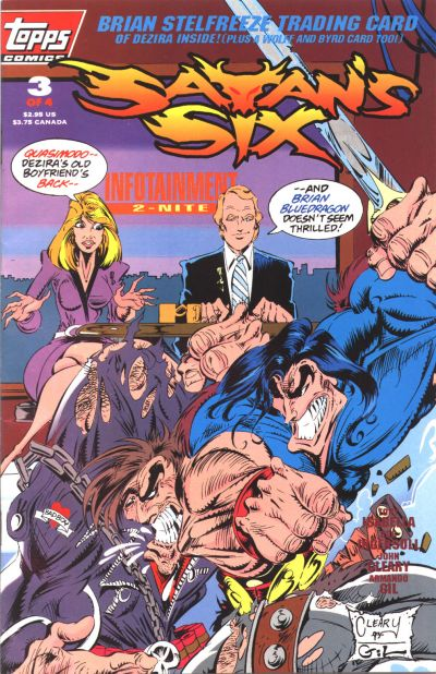Cover for Satan's Six (Topps, 1993 series) #3
