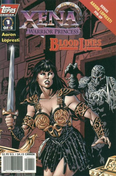 Cover for Xena: Warrior Princess: Bloodlines (Topps, 1998 series) #1 [Art Cover]
