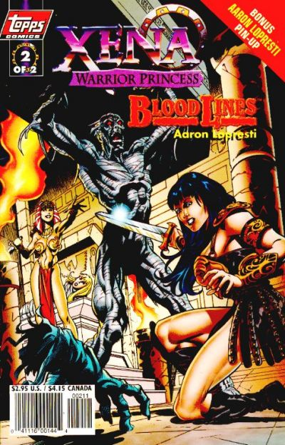 Cover for Xena: Warrior Princess: Bloodlines (Topps, 1998 series) #2 [Art Cover]