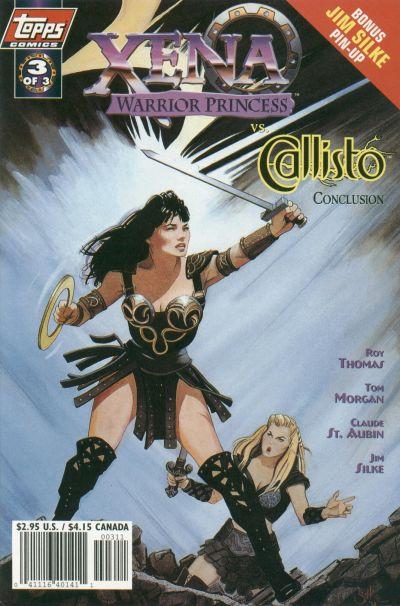 Cover for Xena: Warrior Princess vs Callisto (Topps, 1998 series) #3 [Art Cover]
