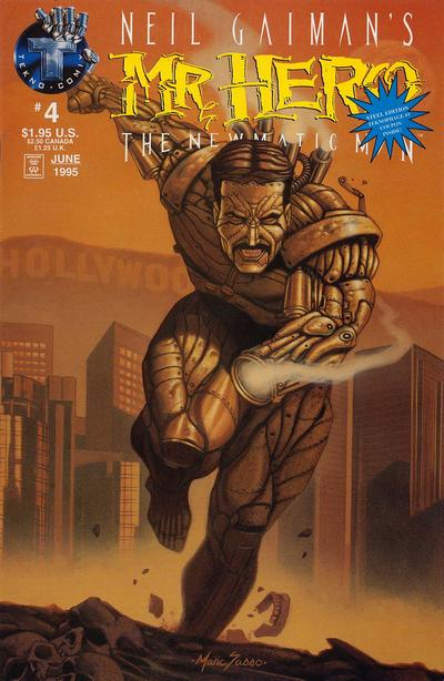 Cover for Neil Gaiman's Mr. Hero - The Newmatic Man (Big Entertainment, 1995 series) #4