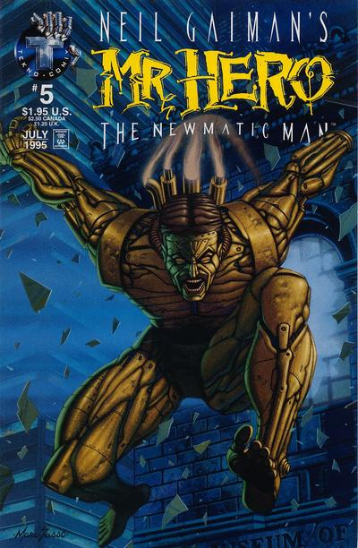 Cover for Neil Gaiman's Mr. Hero - The Newmatic Man (Big Entertainment, 1995 series) #5