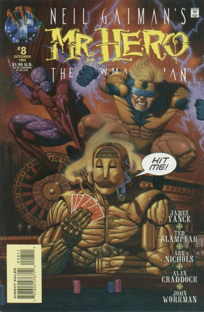 Cover for Neil Gaiman's Mr. Hero - The Newmatic Man (Big Entertainment, 1995 series) #8