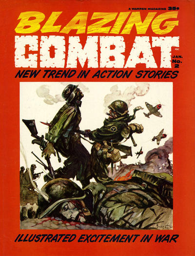 Cover for Blazing Combat (Warren, 1965 series) #2