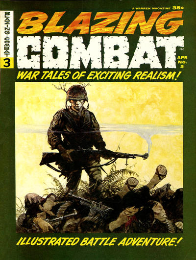 Cover for Blazing Combat (Warren, 1965 series) #3