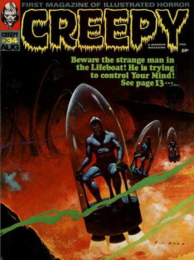Cover for Creepy (Warren, 1964 series) #34