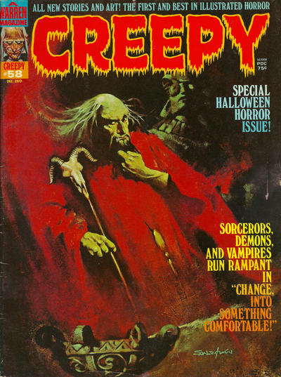 Cover for Creepy (Warren, 1964 series) #58