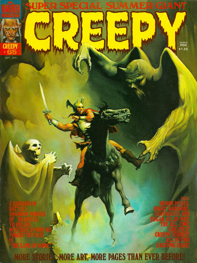 Cover for Creepy (Warren, 1964 series) #65
