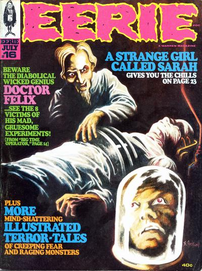 Cover for Eerie (Warren, 1966 series) #16