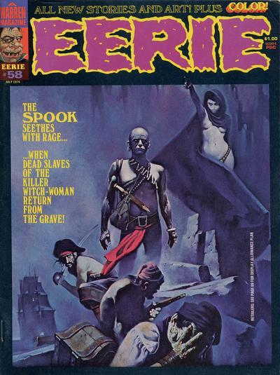 Cover for Eerie (Warren, 1966 series) #58