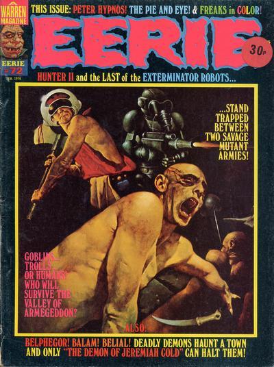 Cover for Eerie (Warren, 1966 series) #72