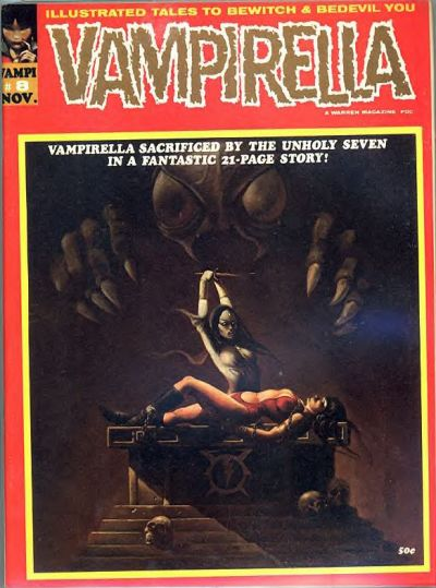 Cover for Vampirella (Warren, 1969 series) #8