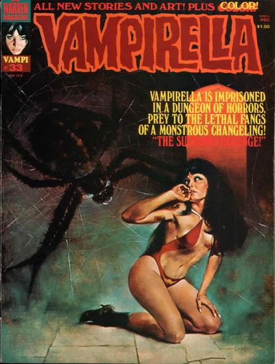 Cover for Vampirella (Warren, 1969 series) #33