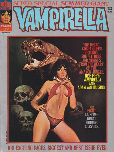 Cover for Vampirella (Warren, 1969 series) #37