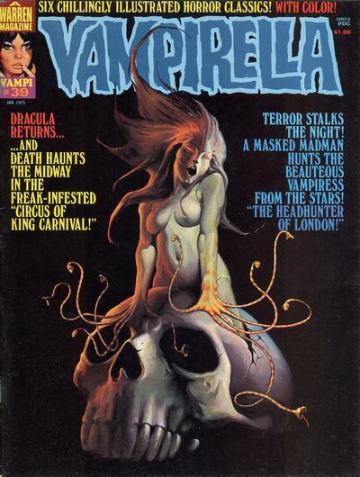 Cover for Vampirella (Warren, 1969 series) #39