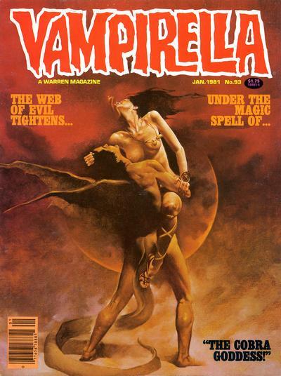 Cover for Vampirella (Warren, 1969 series) #93