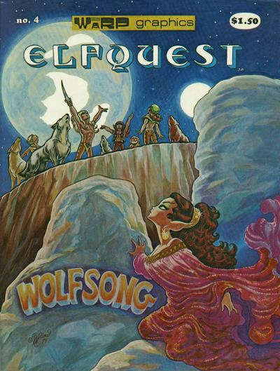 Cover for ElfQuest (WaRP Graphics, 1978 series) #4 [$1.50 later printing]