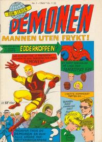 Cover Thumbnail for Demonen (Serieforlaget / Se-Bladene / Stabenfeldt, 1968 series) #1/1968