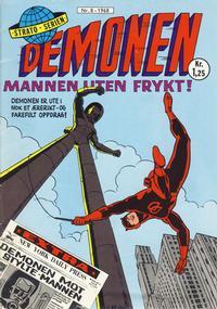 Cover for Demonen (Serieforlaget / Se-Bladene / Stabenfeldt, 1968 series) #8/1968