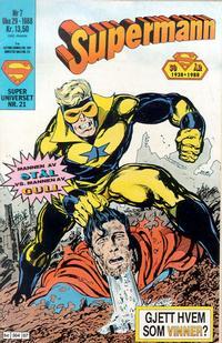 Cover Thumbnail for Supermann (Semic, 1985 series) #7/1988