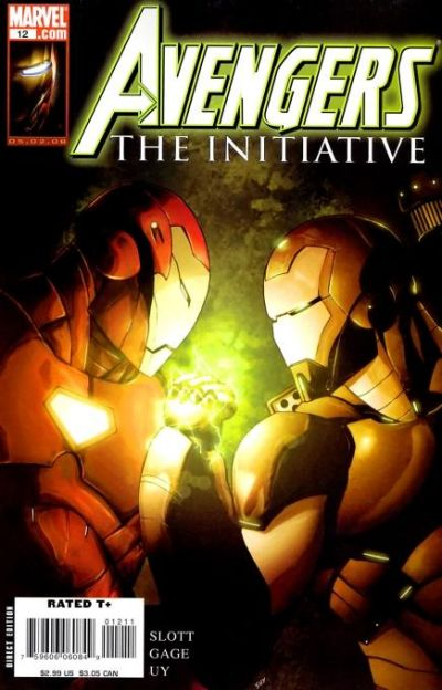 Cover for Avengers: The Initiative (Marvel, 2007 series) #12 [Newsstand]