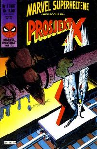 Cover Thumbnail for Marvel Superheltene (Semic, 1987 series) #1/1987