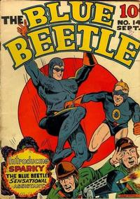 Cover Thumbnail for Blue Beetle (Holyoke, 1942 series) #14